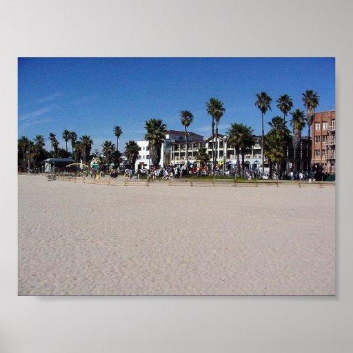Venice Beach Drummers Poster