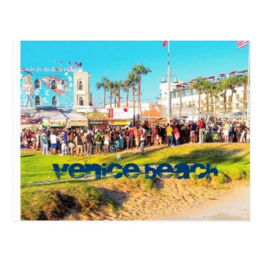 Beach Themed VENICE BEACH ENTERTAINMENT CYCLE POSTCARD