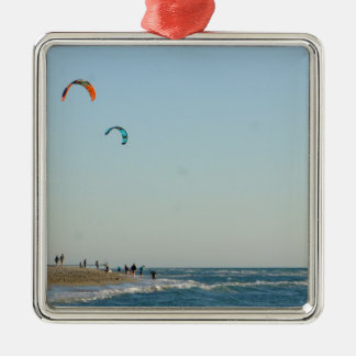 Venice Beach Kite Surfers Metal Ornament