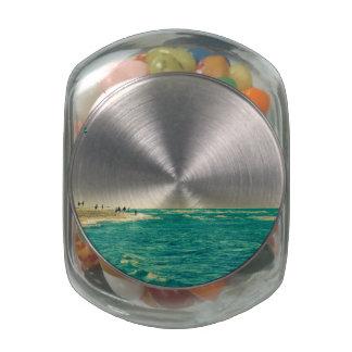 Venice Beach Kite Surfing 2 Glass Jar