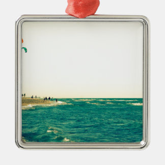 Venice Beach Kite Surfing 2 Metal Ornament
