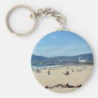 Venice Beach Looking North On With The Santa Monic Keychain