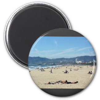 Venice Beach Looking North On With The Santa Monic Magnet