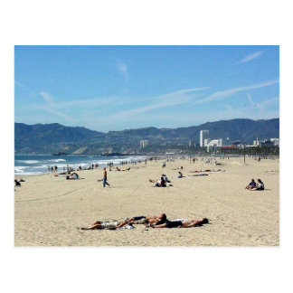 Venice Beach Looking North On With The Santa Monic Postcard