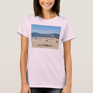 Venice Beach Looking North On With The Santa Monic T-Shirt