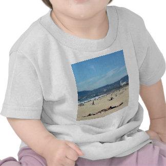 Venice Beach Looking North On With The Santa Monic Tee Shirt