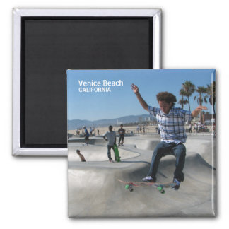 Venice Beach Magnet! 2 Inch Square Magnet