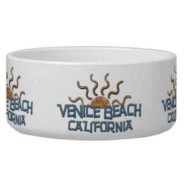 Beach Themed Venice Beach Pet Bowl! Bowl