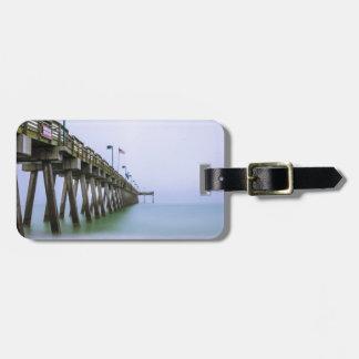 Venice Beach Pier on a Foggy Day Bag Tag