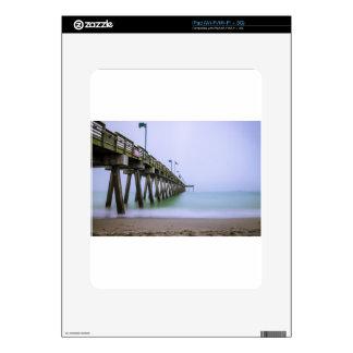 Venice Beach Pier on a Foggy Day Decals For iPad
