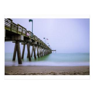 Venice Beach Pier on a Foggy Day Postcard
