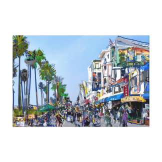 Venice Beach Promenade Canvas Print