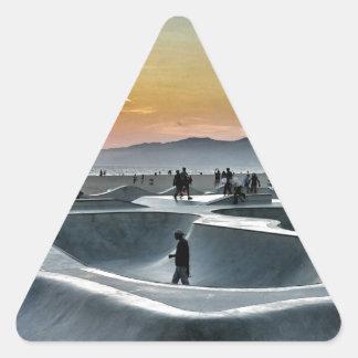 Venice Beach Skateboard Park Triangle Sticker