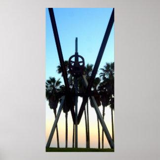 Venice Beach Sky California Photo Poster
