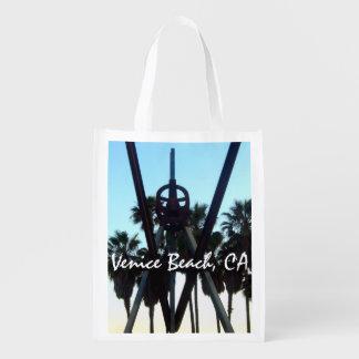 Venice Beach Sky California Souvenier Photo Reusable Grocery Bag