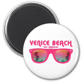 Venice Beach sunglasses 2 Inch Round Magnet