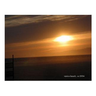Venice Beach Sunset, 2004 Post Card