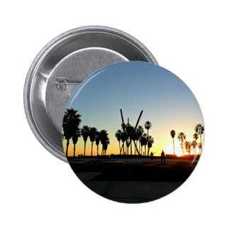 Venice Beach Sunset 2 Inch Round Button
