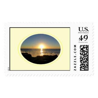 Venice Beach Sunset 2 Postage Stamp
