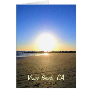 Venice Beach Sunset Greeting Cards