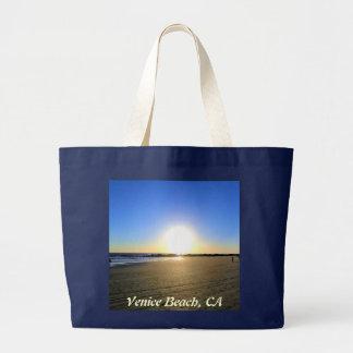 Venice Beach Sunset Jumbo Tote Bag
