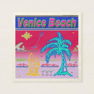 """Venice Beach"" Surfer Napkins Standard Cocktail Napkin"