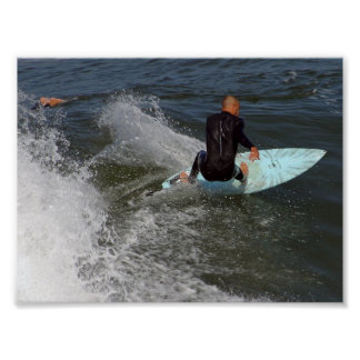 Venice Beach Surfing Poster