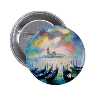 Venice before rain 2 inch round button