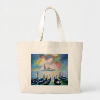 Venice before rain large tote bag