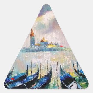 Venice before rain triangle sticker