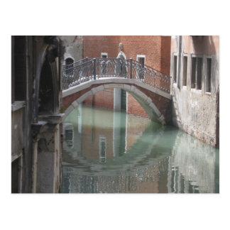 Venice bridge - postcard