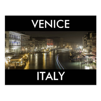 Venice by night postcard