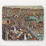 Venice by Prendergast, Vintage Post Impressionism Mouse Pad