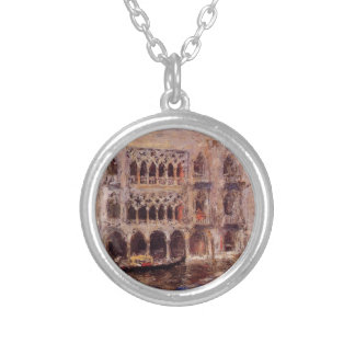 Venice by William Merritt Chase Silver Plated Necklace