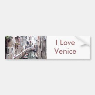Venice canal bumper sticker