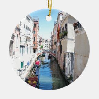 Venice canal ceramic ornament