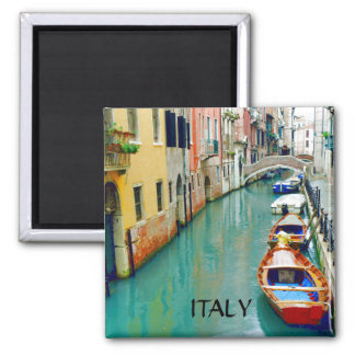 VENICE CANAL, ITALY 2 INCH SQUARE MAGNET