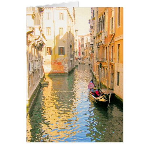 VENICE CANAL, ITALY GREETING CARD