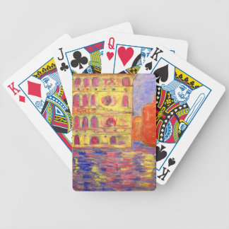 venice canal light bicycle playing cards