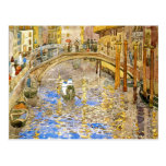 Venice Canal Scene (Italy)- by Prendergast Postcard