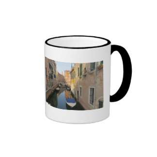 Venice Canal with Boats Ringer Mug