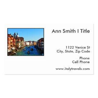 Venice Canal with Love Quote Business Card