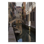 Venice Canals and Stone bridge Poster