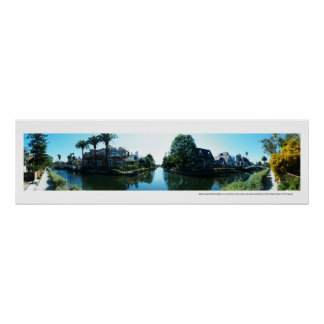 Venice Canals Panoramic Poster