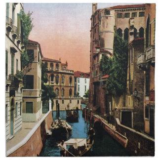 Venice canals, VIntage image Napkin