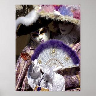 Venice carnival - Love Poster