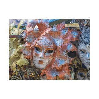 Venice carnival masks canvas print