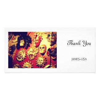 Venice Carnival Masks Card