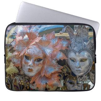 Venice Carnival masks laptop sleeve