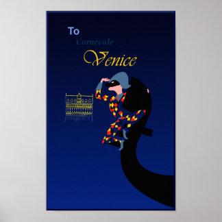 Venice, Carnival travel poster